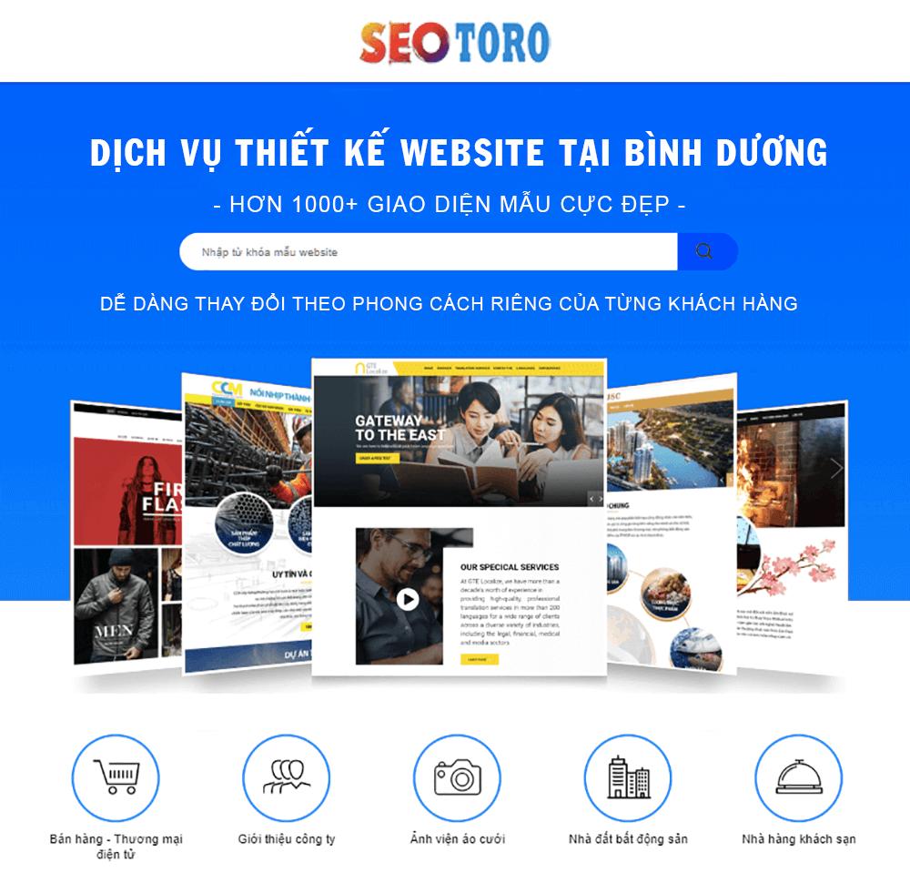 các mẫu website seotoro thiết kế