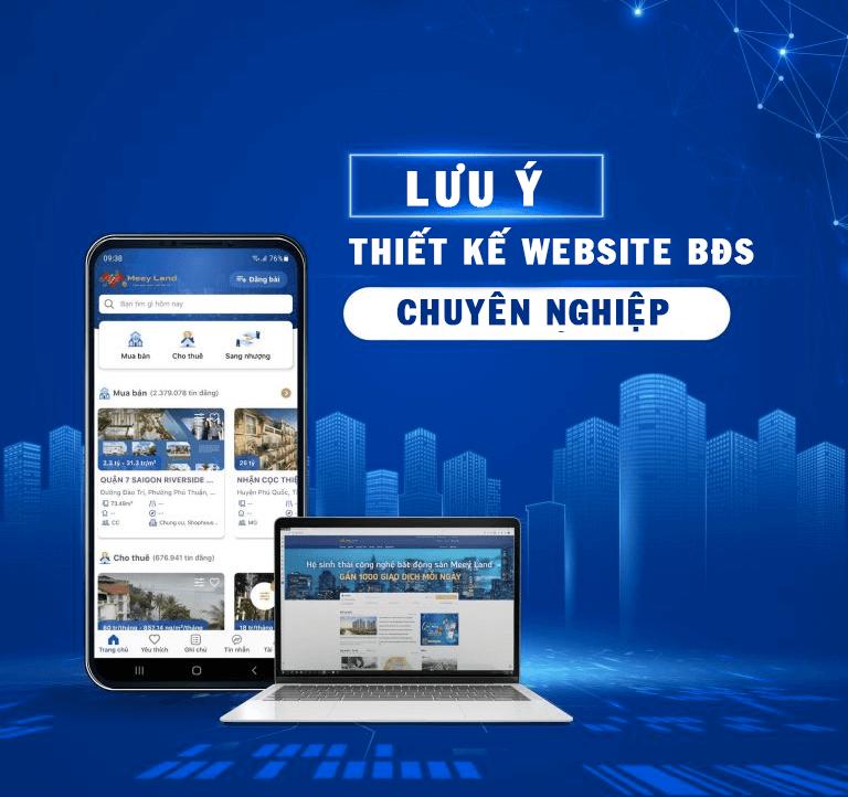 lưu ý thiết kế website bất động sản