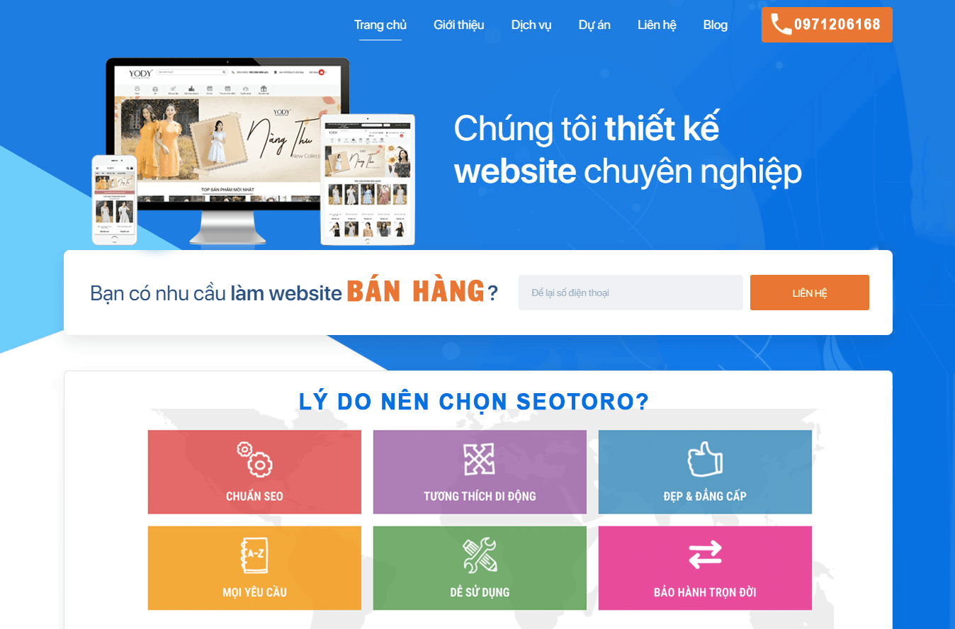 lý do nên chọn dịch vụ thiết kế website bán hàng của seotoro