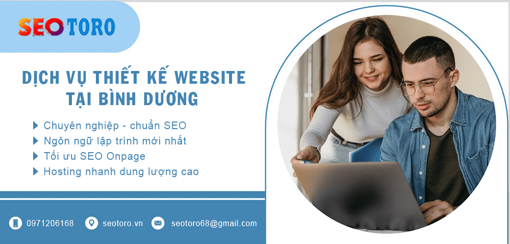 seotoro chuyên thiết kế website tại bình dương