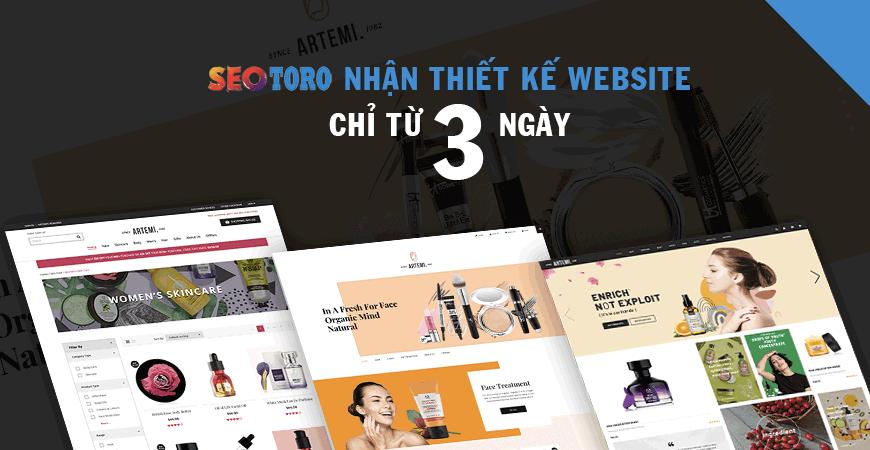 thời gian thiết kế website