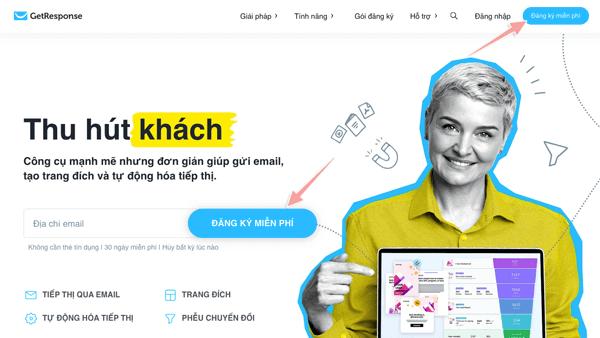 Getresponse mang đến những tiện ích tuyệt vời cho Email Marketing
