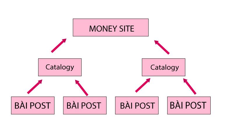 Mô hình Internal link Kim tự tháp
