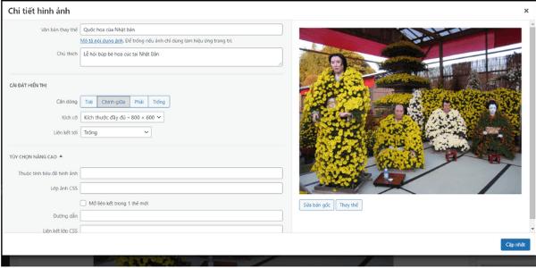 Chỉnh hình ảnh trên WordPress